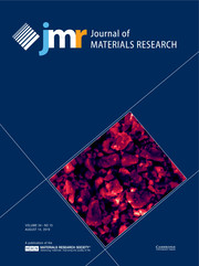 Journal of Materials Research Volume 34 - Issue 15 -