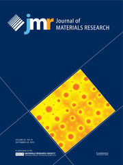 Journal of Materials Research Volume 34 - Issue 18 -