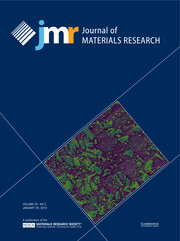 Journal of Materials Research Volume 34 - Issue 2 -