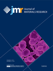 Journal of Materials Research Volume 34 - Issue 21 -
