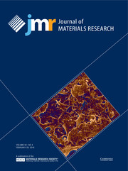 Journal of Materials Research Volume 34 - Issue 4 -