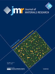 Journal of Materials Research Volume 35 - Issue 11 -  Focus Section: Heterogeneity in Beyond Graphene 2D Materials