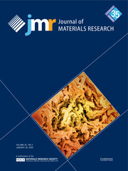 Journal of Materials Research Volume 35 - Issue 2 -