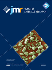 Journal of Materials Research Volume 35 - Issue 23-24 -