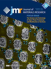 Journal of Materials Research Volume 35 - Issue 5 -  Focus Issue: The Science and Technology of Vapor Phase Processing and Modification of Surfaces