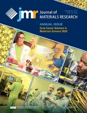 Journal of Materials Research Volume 35 - Issue 8 -  Annual Issue: JMR Early Career Scholars in Materials Science Annual Issue