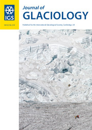 Journal of Glaciology Volume 62 - Issue 234 -