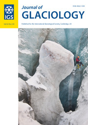 Journal of Glaciology Volume 63 - Issue 239 -