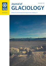 Journal of Glaciology Volume 64 - Issue 243 -