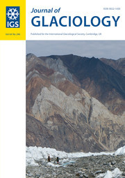 Journal of Glaciology Volume 64 - Issue 246 -