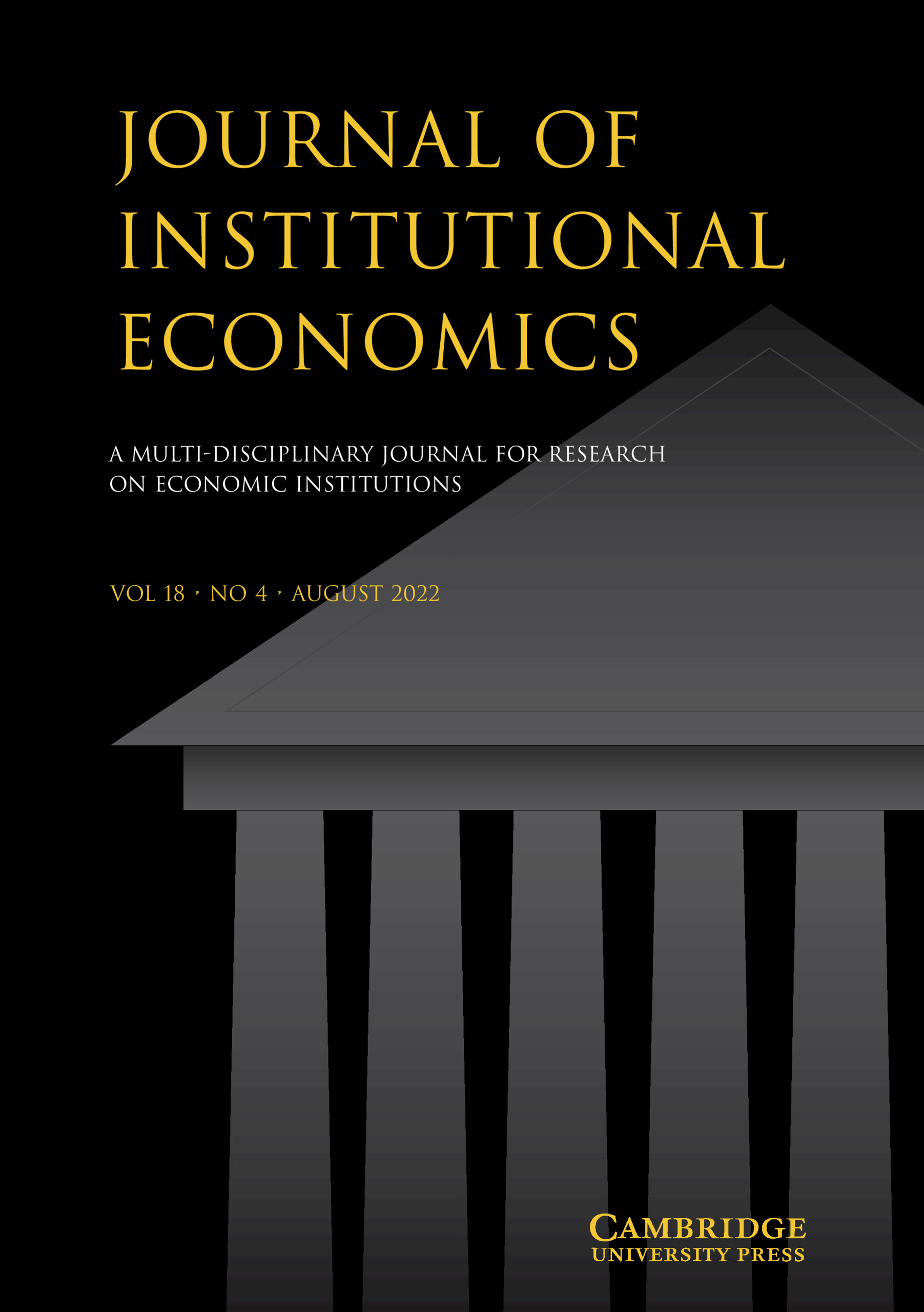 Journal of Institutional Economics | Cambridge Core