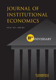 Journal of Institutional Economics Volume 10 - Issue 2 -