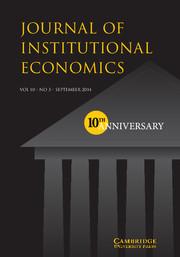 Journal of Institutional Economics Volume 10 - Issue 3 -