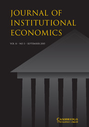 Journal of Institutional Economics Volume 11 - Issue 3 -