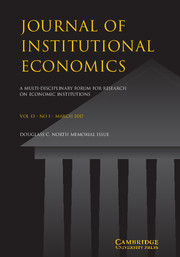 Journal of Institutional Economics Volume 13 - Issue 1 -  Douglass C. North Memorial Issue