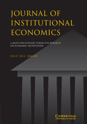Journal of Institutional Economics Volume 13 - Issue 2 -