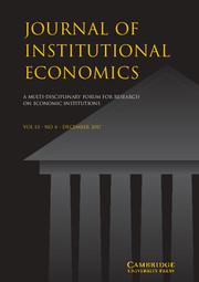 Journal of Institutional Economics Volume 13 - Issue 4 -