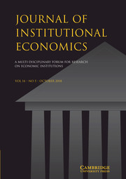 Journal of Institutional Economics Volume 14 - Issue 5 -