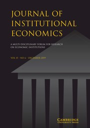 Journal of Institutional Economics Volume 15 - Issue 6 -
