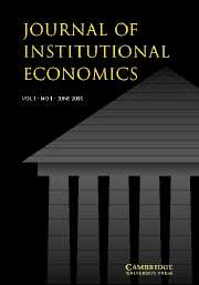 Journal of Institutional Economics Volume 1 - Issue 1 -