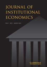Journal of Institutional Economics Volume 7 - Issue 1 -