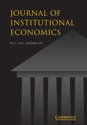 Journal of Institutional Economics Volume 7 - Issue 4 -