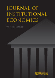 Journal of Institutional Economics Volume 9 - Issue 2 -