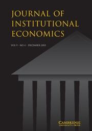 Journal of Institutional Economics Volume 9 - Issue 4 -  Elinor Ostrom Memorial Issue