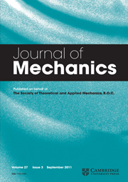 Journal of Mechanics Volume 27 - Issue 3 -