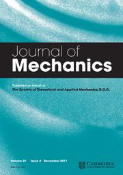Journal of Mechanics Volume 27 - Issue 4 -