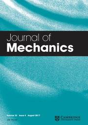 Journal of Mechanics Volume 33 - Issue 4 -
