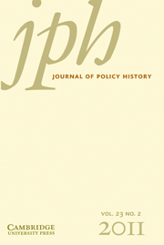 Journal of Policy History Volume 23 - Issue 2 -