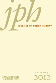 Journal of Policy History Volume 24 - Issue 3 -