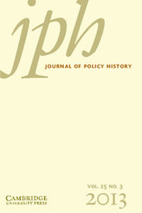 Journal of Policy History Volume 25 - Issue 3 -