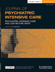 Journal of Psychiatric Intensive Care Volume 7 - Issue 2 -