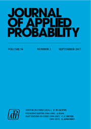 Journal of Applied Probability Volume 54 - Issue 3 -