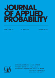 Journal of Applied Probability Volume 58 - Issue 1 -