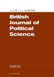 British Journal of Political Science Volume 38 - Issue 1 -