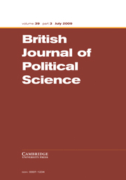 British Journal of Political Science Volume 39 - Issue 3 -