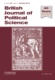 British Journal of Political Science Volume 40 - Issue 1 -