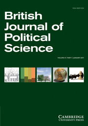 British Journal of Political Science Volume 41 - Issue 1 -