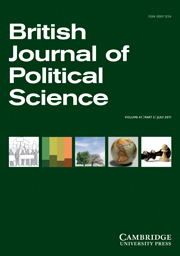 British Journal of Political Science Volume 41 - Issue 3 -