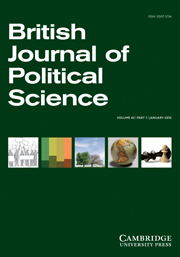 British Journal of Political Science Volume 42 - Issue 1 -