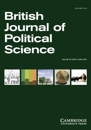 British Journal of Political Science Volume 46 - Issue 2 -