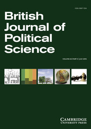 British Journal of Political Science Volume 46 - Issue 3 -