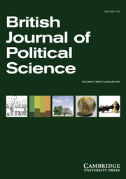 British Journal of Political Science Volume 47 - Issue 1 -