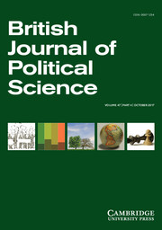 British Journal of Political Science Volume 47 - Issue 4 -