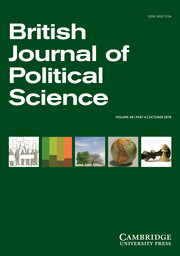British Journal of Political Science Volume 48 - Issue 4 -