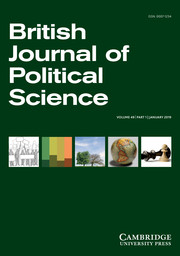 British Journal of Political Science Volume 49 - Issue 1 -