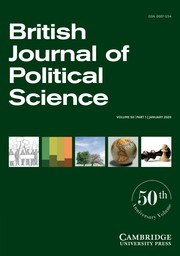 British Journal of Political Science Volume 50 - Issue 1 -